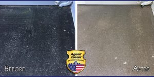 Agent Clean before and after of pressure washing service on concrete