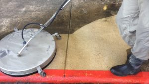 Agent Clean uses surface cleaners to clean concrete
